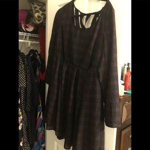 4CAS plaid LS Skater dress . Brand new Size 1